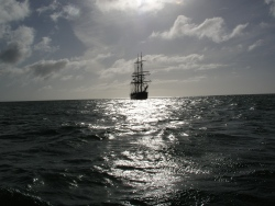 Tall ship in Swanage Bay
